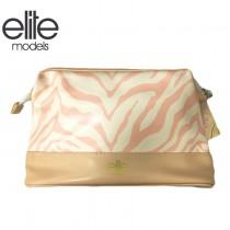 【olina】法國 elite 化妝包(時尚斑馬紋)