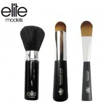 【olina】法國elite 精選化妝刷具組-3件組(美妍修容刷+粉底刷+專業遮瑕刷)