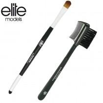 【olina】法國elite 完美眼部刷具-2件組(魅力眉睫兩用刷+專業雙頭眼影刷)